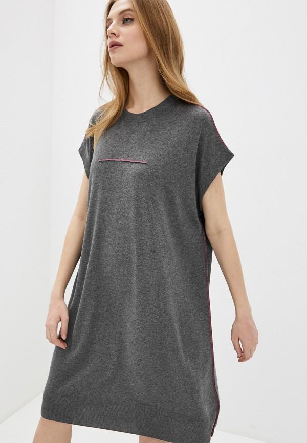женское платье mm6 maison margiela, серое