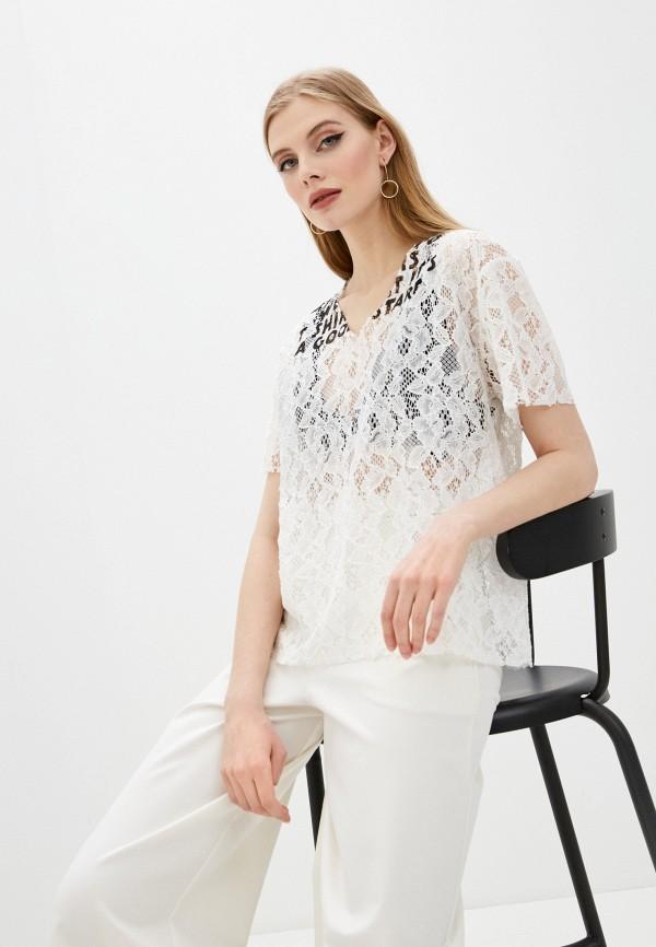 женская блузка mm6 maison margiela, белая