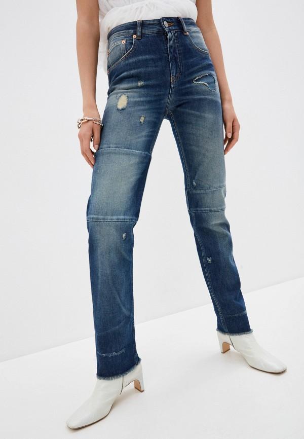 женские прямые джинсы mm6 maison margiela, синие