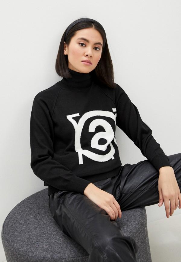 женский свитер mm6 maison margiela, черный