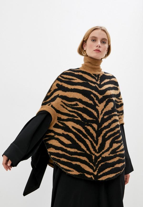 женский свитер mm6 maison margiela, коричневый