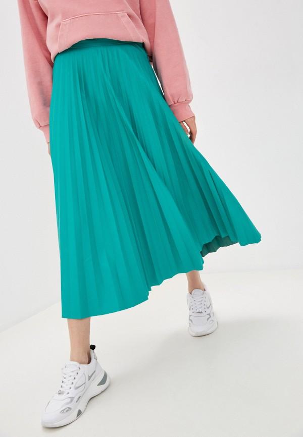 женская юбка mm6 maison margiela, бирюзовая