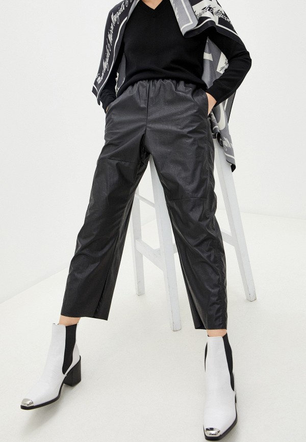 женские брюки mm6 maison margiela, черные