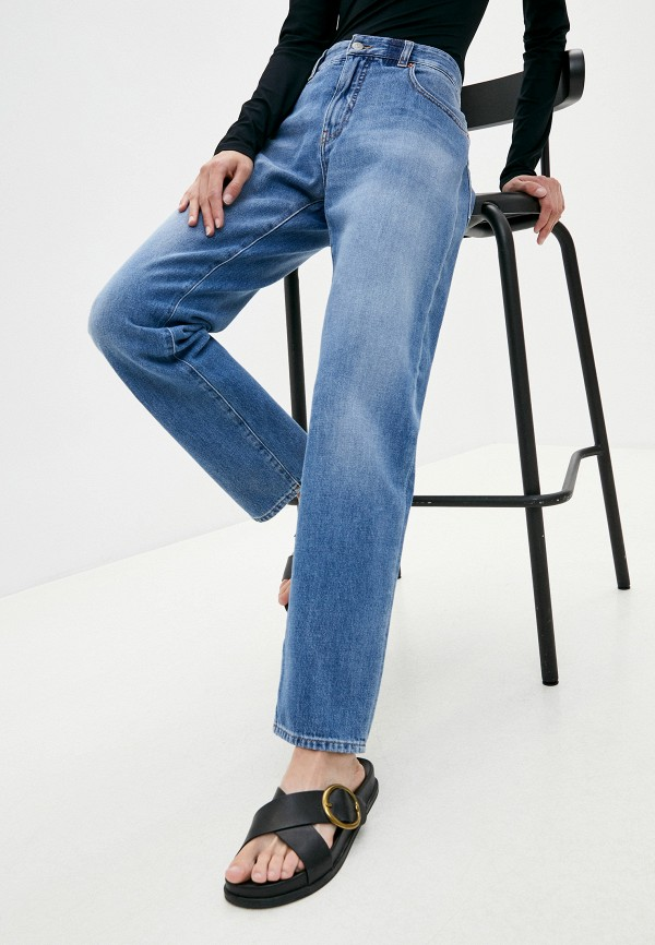 женские прямые джинсы mm6 maison margiela, голубые