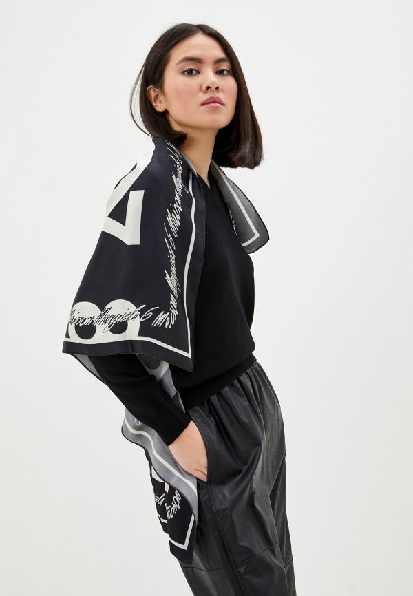 женский пуловер mm6 maison margiela, черный