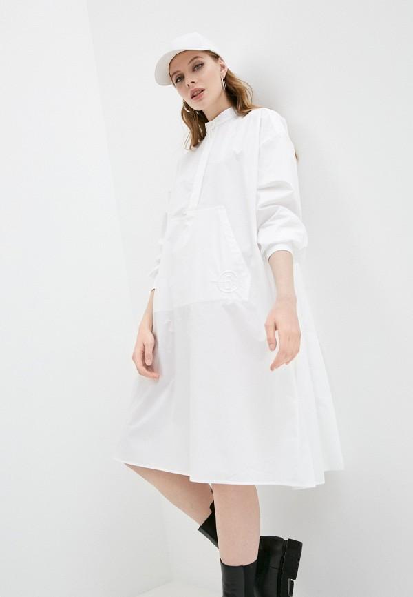 женское платье mm6 maison margiela, белое