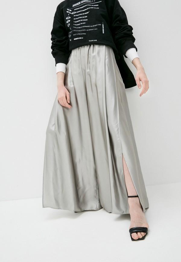 женские повседневные брюки mm6 maison margiela, серые