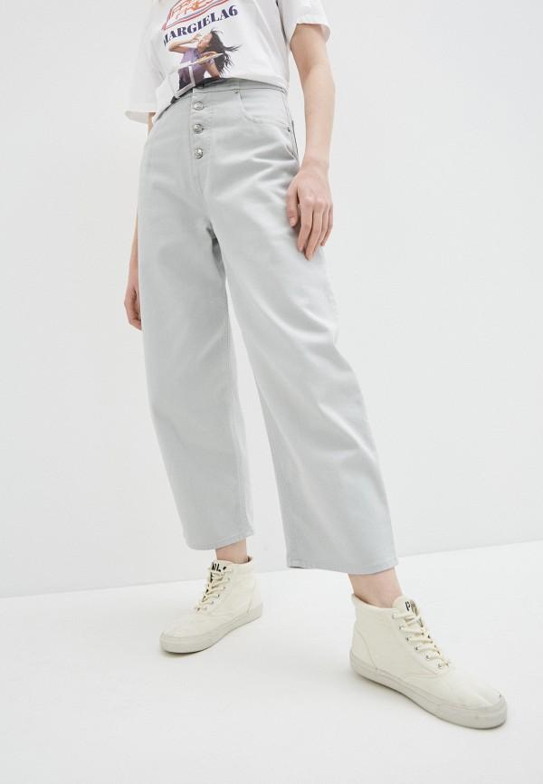 женские джинсы mm6 maison margiela, серые