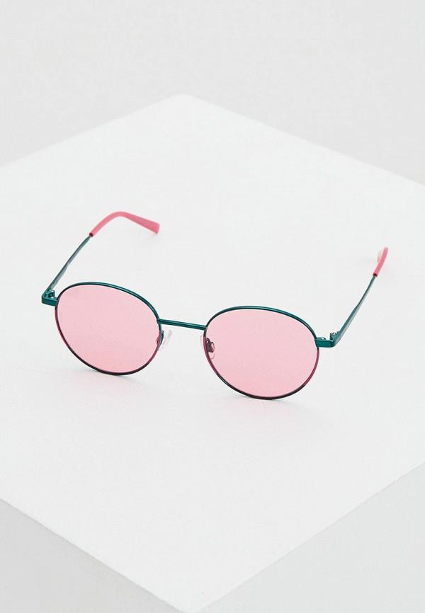 женские солнцезащитные очки m missoni, бирюзовые