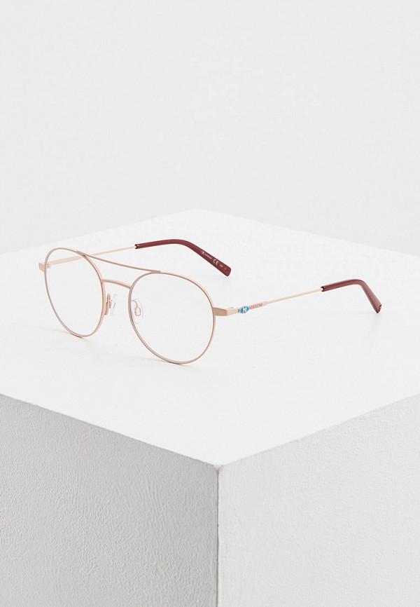женские авиаторы солнцезащитные очки m missoni, розовые