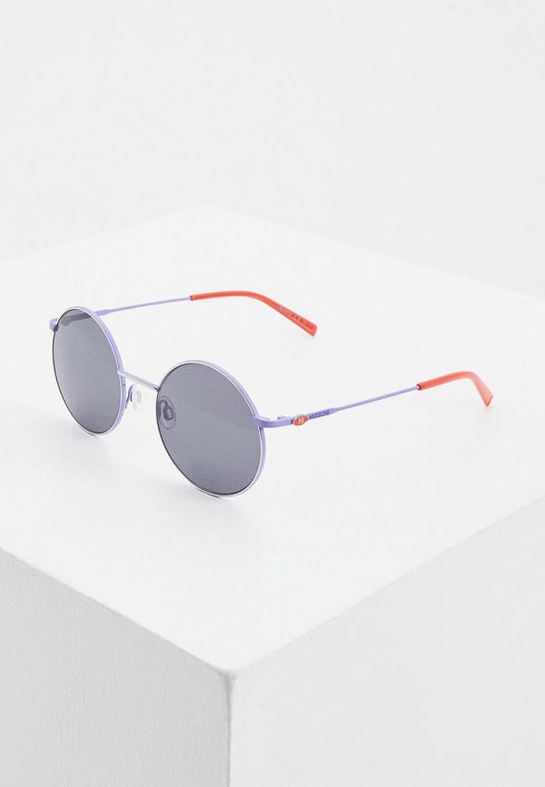 женские круглые солнцезащитные очки m missoni, фиолетовые