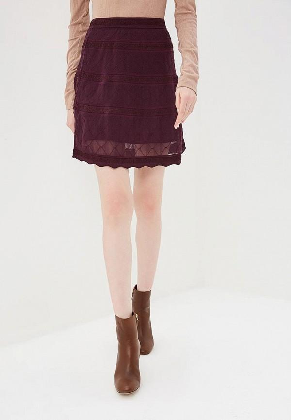 женская юбка m missoni, бордовая