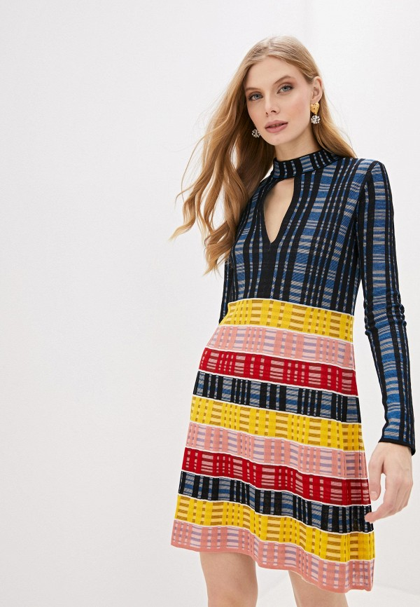 женское повседневные платье m missoni, разноцветное