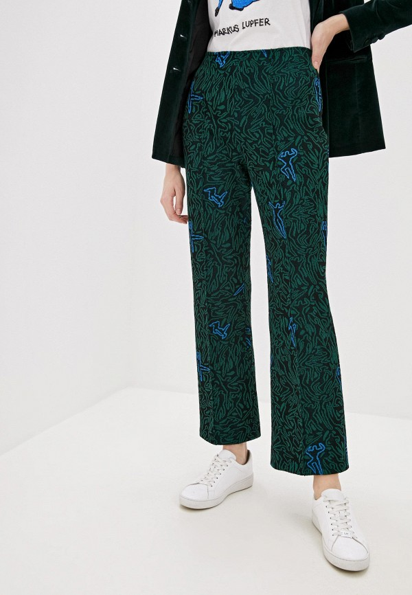женские классические брюки m missoni, зеленые