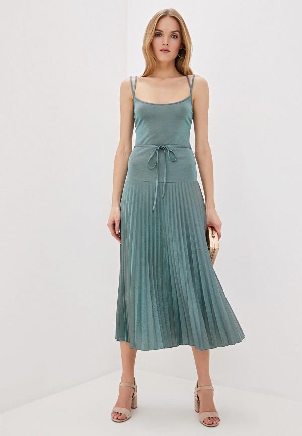 женское вечерние платье m missoni, бирюзовое