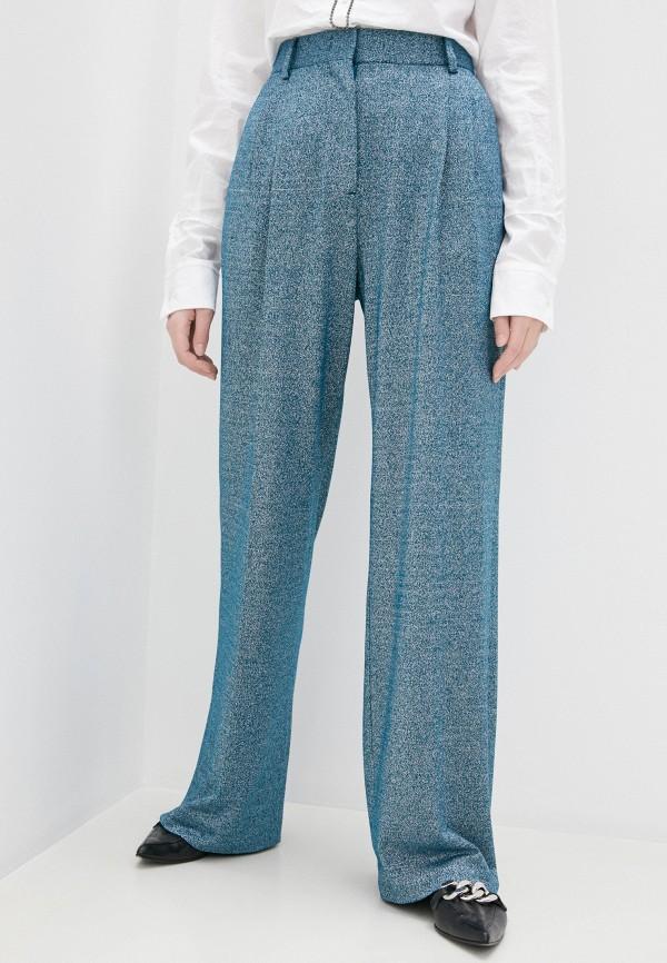 женские повседневные брюки m missoni, бирюзовые