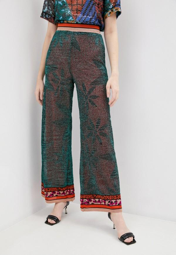 женские повседневные брюки m missoni, зеленые