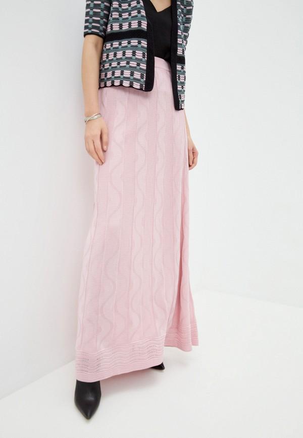 женская юбка-трапеции m missoni, розовая