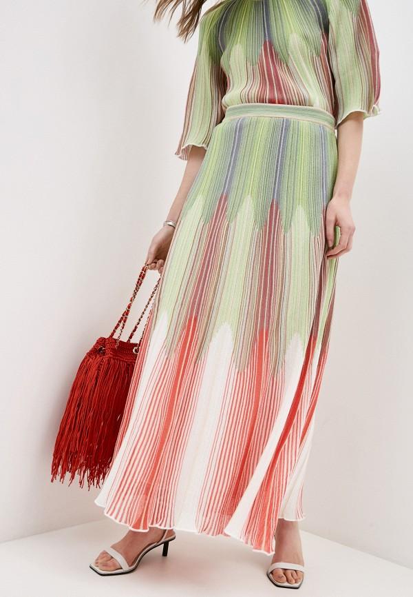 женская юбка m missoni, разноцветная