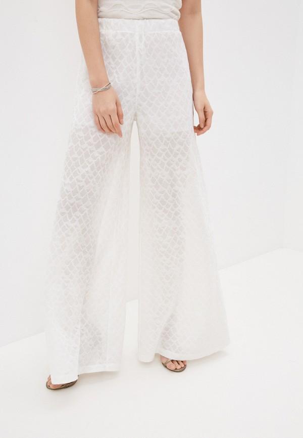 женские повседневные брюки m missoni, белые