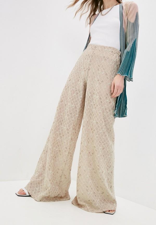 женские повседневные брюки m missoni, бежевые