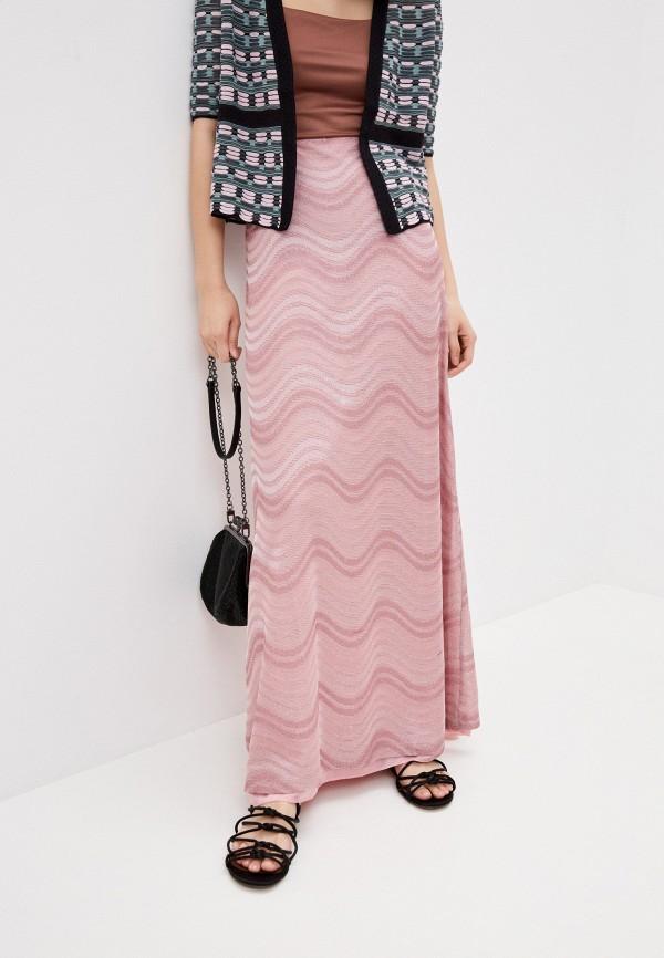 женская юбка m missoni, розовая