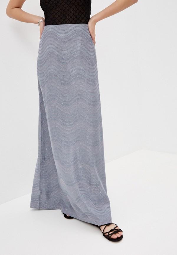 женская юбка-трапеции m missoni, серебряная