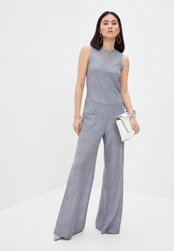 женский комбинезон с брюками m missoni, серебряный
