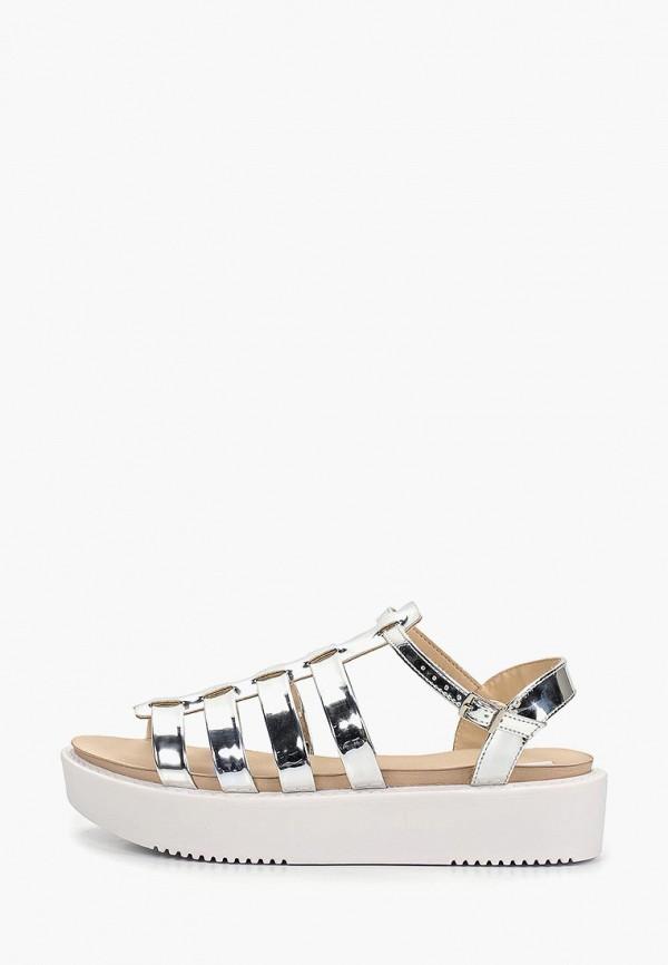 женские сандалии moleca, серебряные