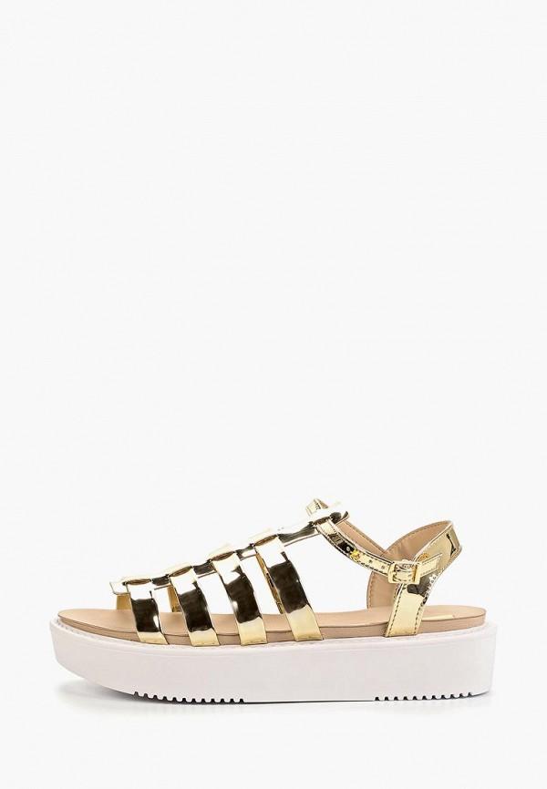 женские сандалии moleca, золотые