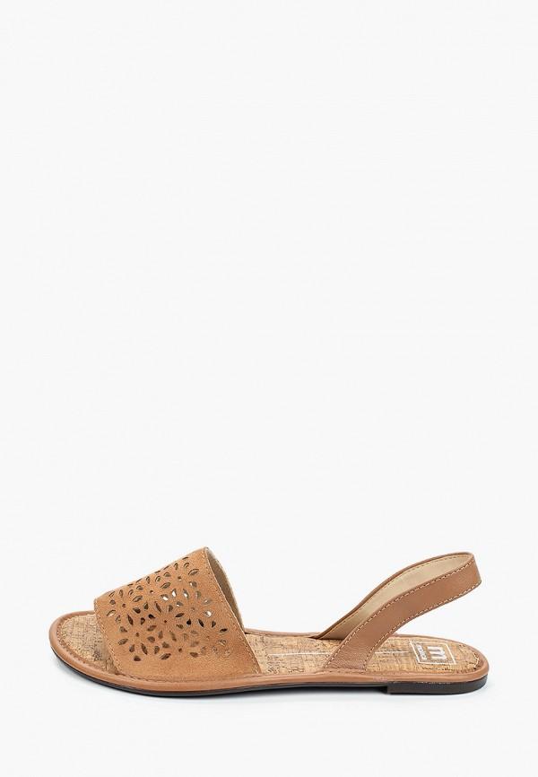 женские сандалии moleca, коричневые