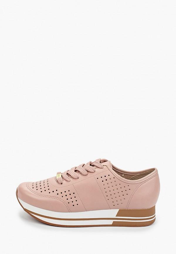 женские кроссовки moleca, розовые