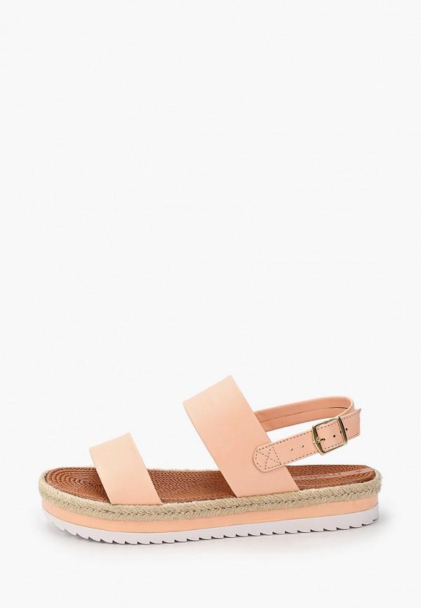 женские сандалии moleca, розовые