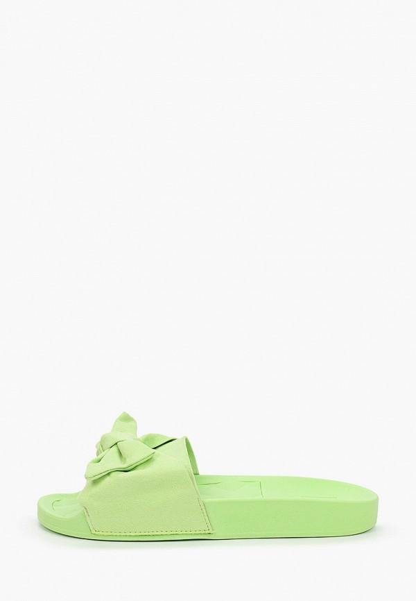 женское сабо moleca, зеленое