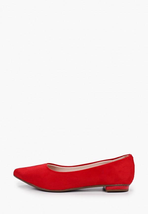 женские туфли с закрытым носом moleca, красные