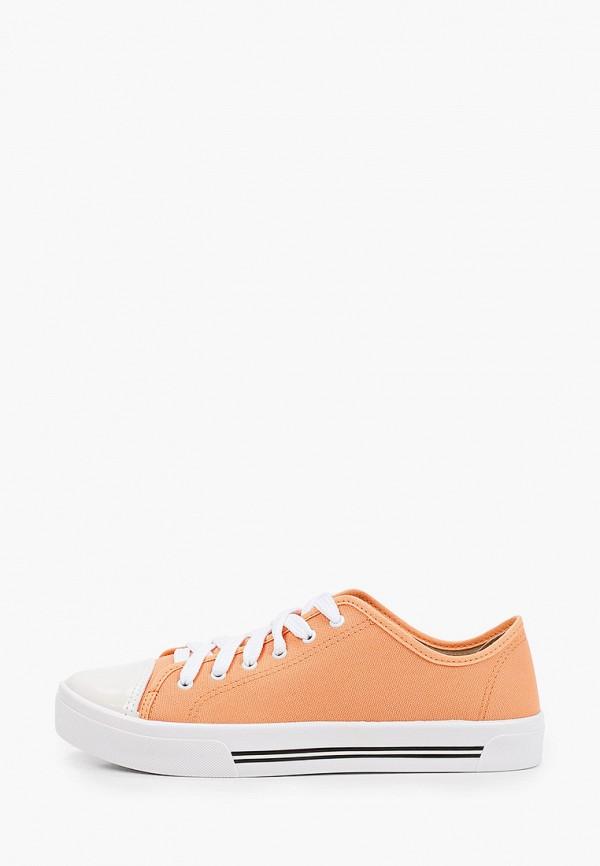 женские кеды moleca, оранжевые