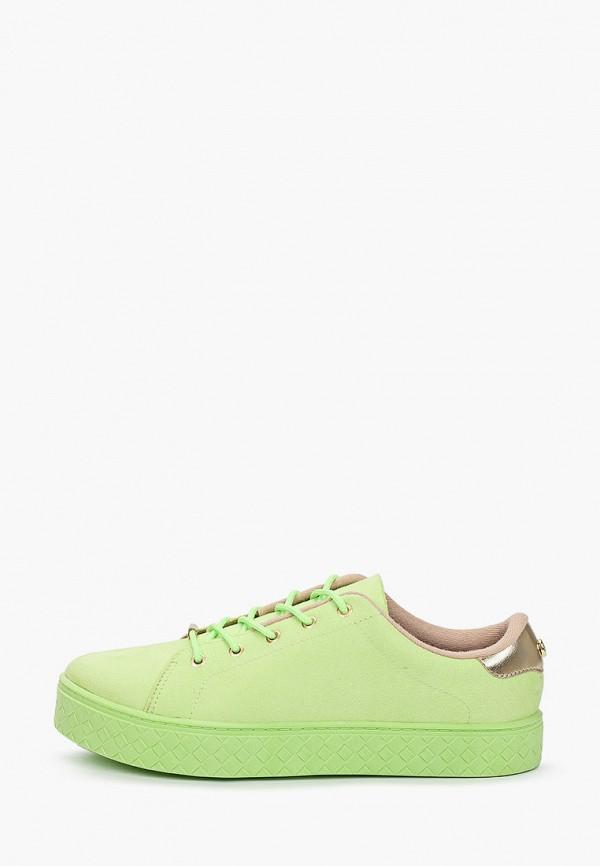 женские низкие кеды moleca, зеленые