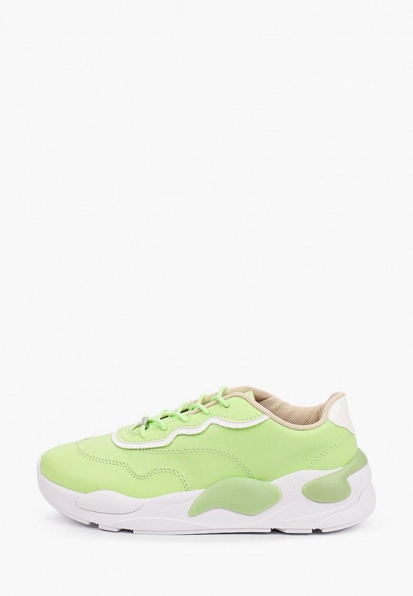 женские низкие кроссовки moleca, зеленые