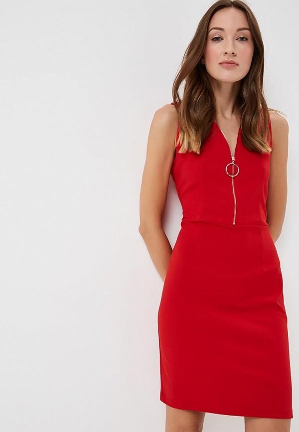 женское повседневные платье morgan, красное