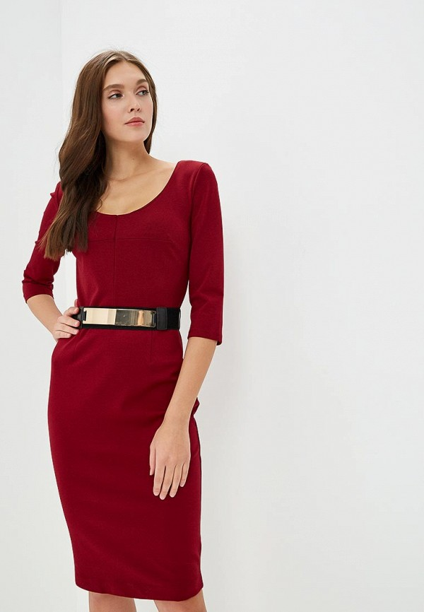 женское платье-футляр morgan, бордовое