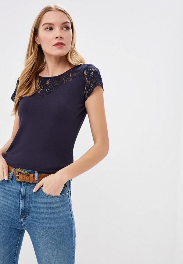 Купить Женскую футболку Morgan синего цвета