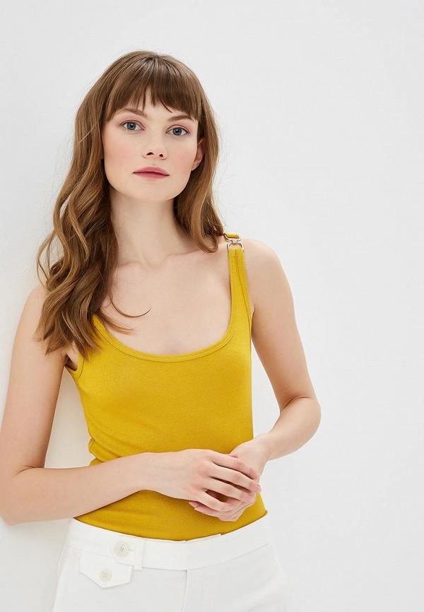 женский топ morgan, желтый