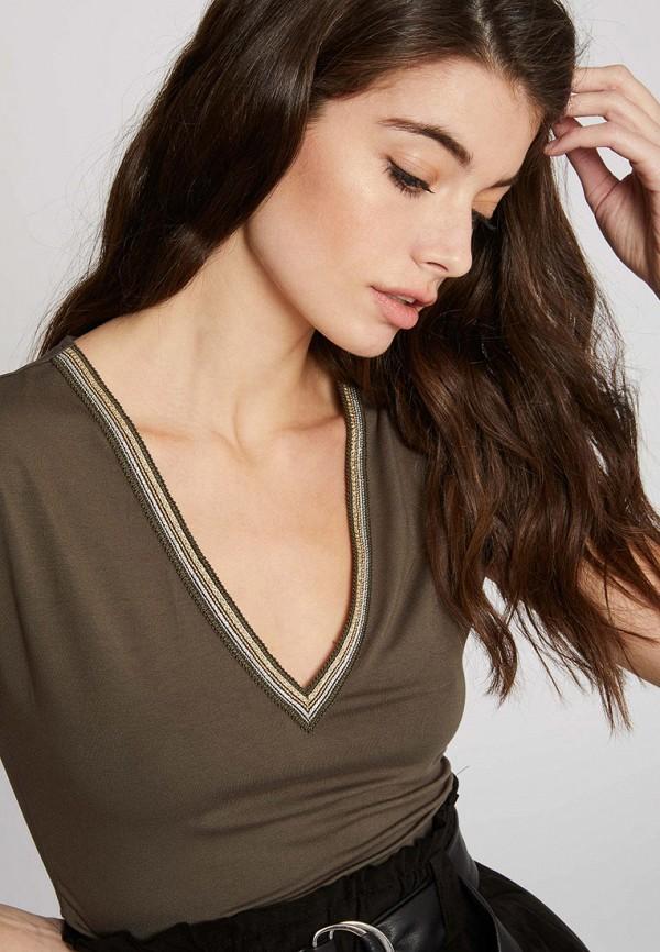 женская футболка morgan, коричневая