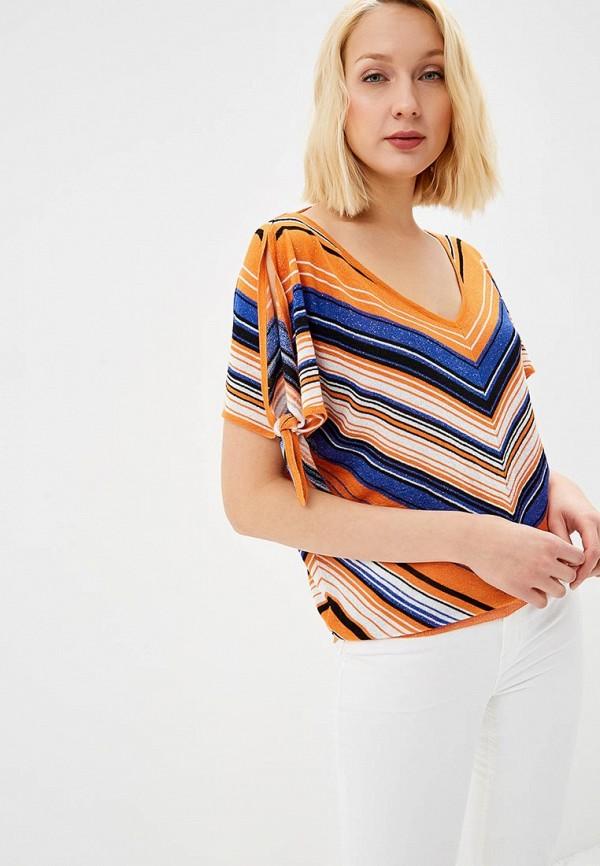 женский пуловер morgan, оранжевый