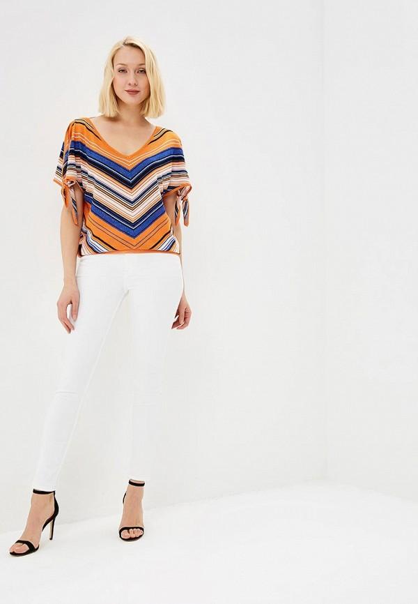 Фото 2 - женский пуловер Morgan оранжевого цвета