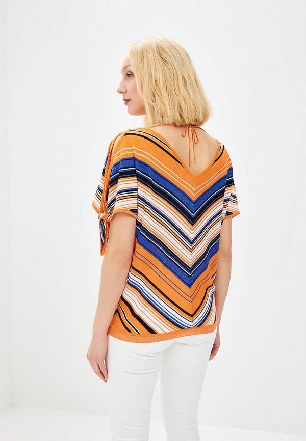 Фото 3 - женский пуловер Morgan оранжевого цвета