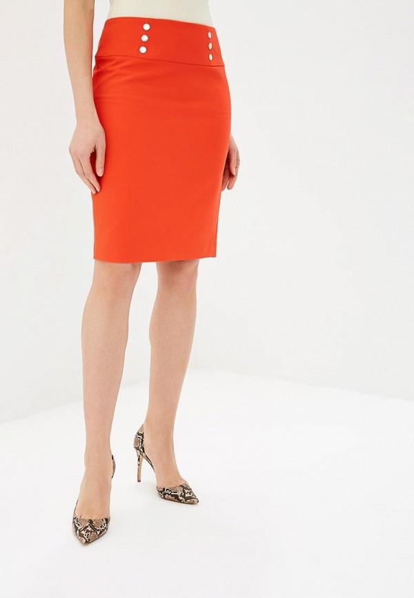 женская зауженные юбка morgan, оранжевая