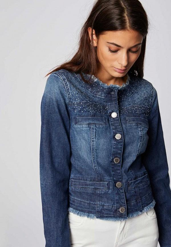 Куртка джинсовая Morgan Morgan MO012EWDVOB3 куртка утепленная morgan morgan mo012ewvac98