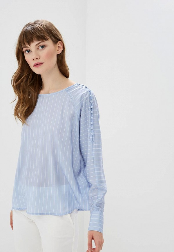 женская блузка morgan, голубая