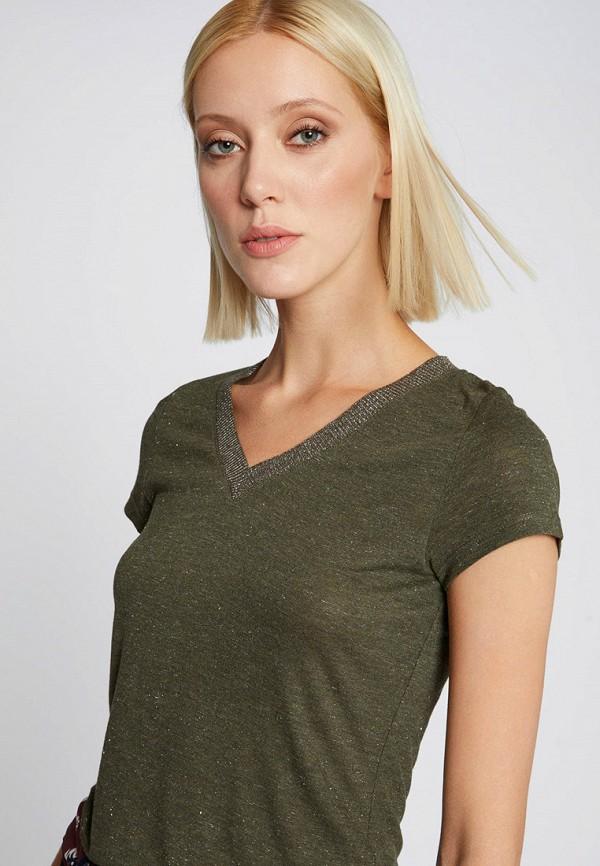 женская футболка morgan, хаки